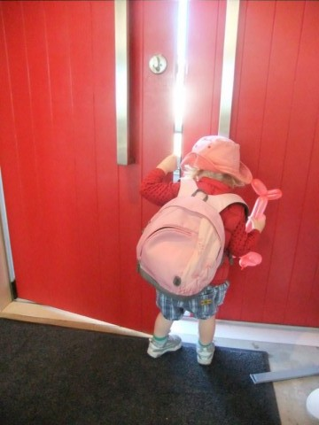 Josie and the red door.